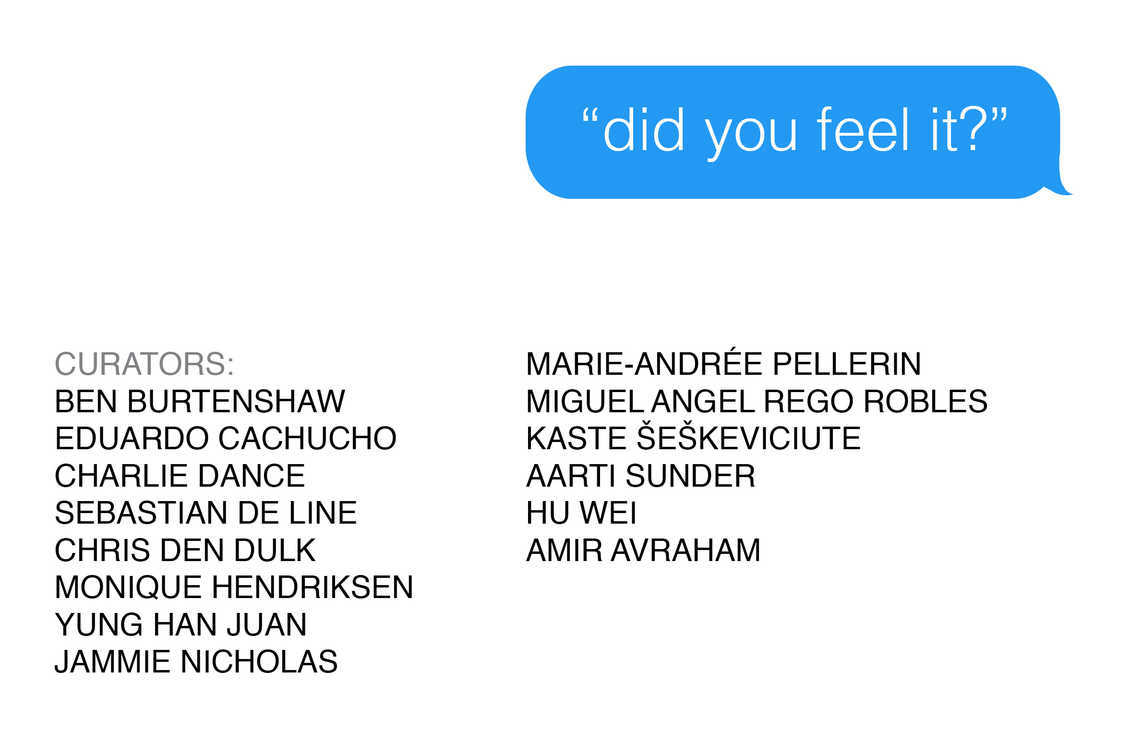 'did you feel it?' - a symposium on digital interfaces and their affect. Organised by DAI & Open!