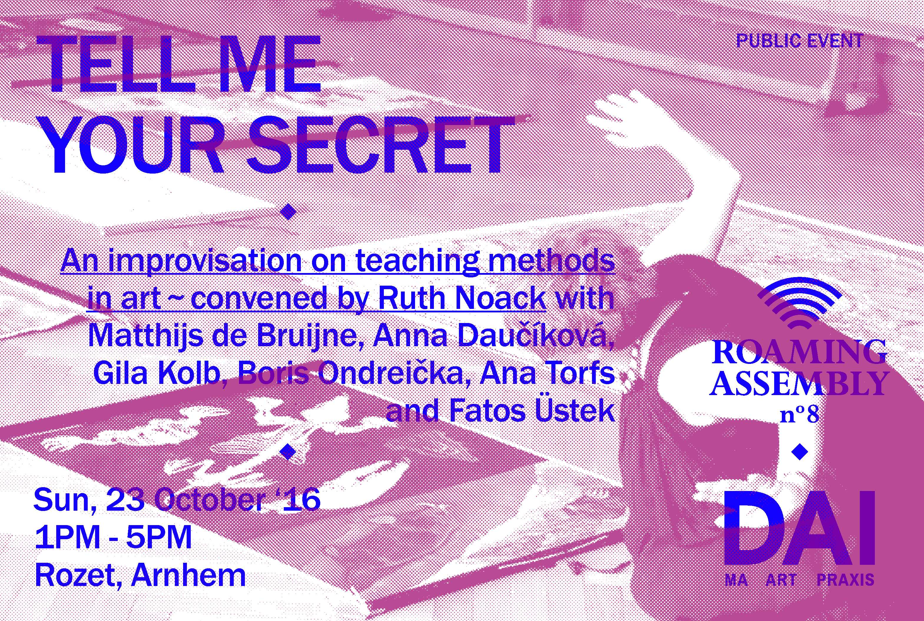 Tell me your secret - an improvisation on teaching methods in art. Image-credit: Monnier Ostermair