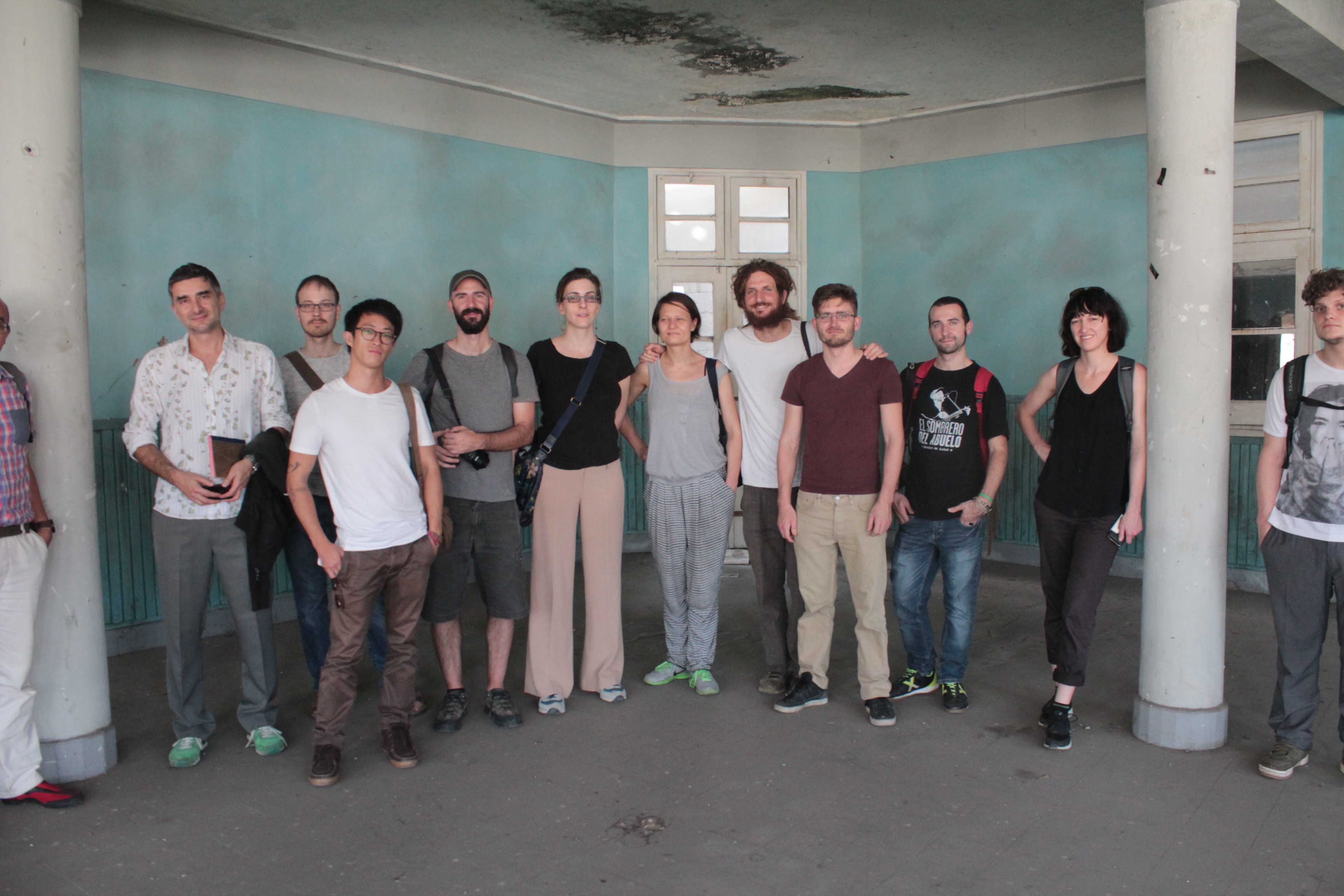 Location, Location, Location ~ group portrait, including lead tutors Tirdad Zolghadr, Doreen Mende and Rachel O'Reilly . Bandung, 2015