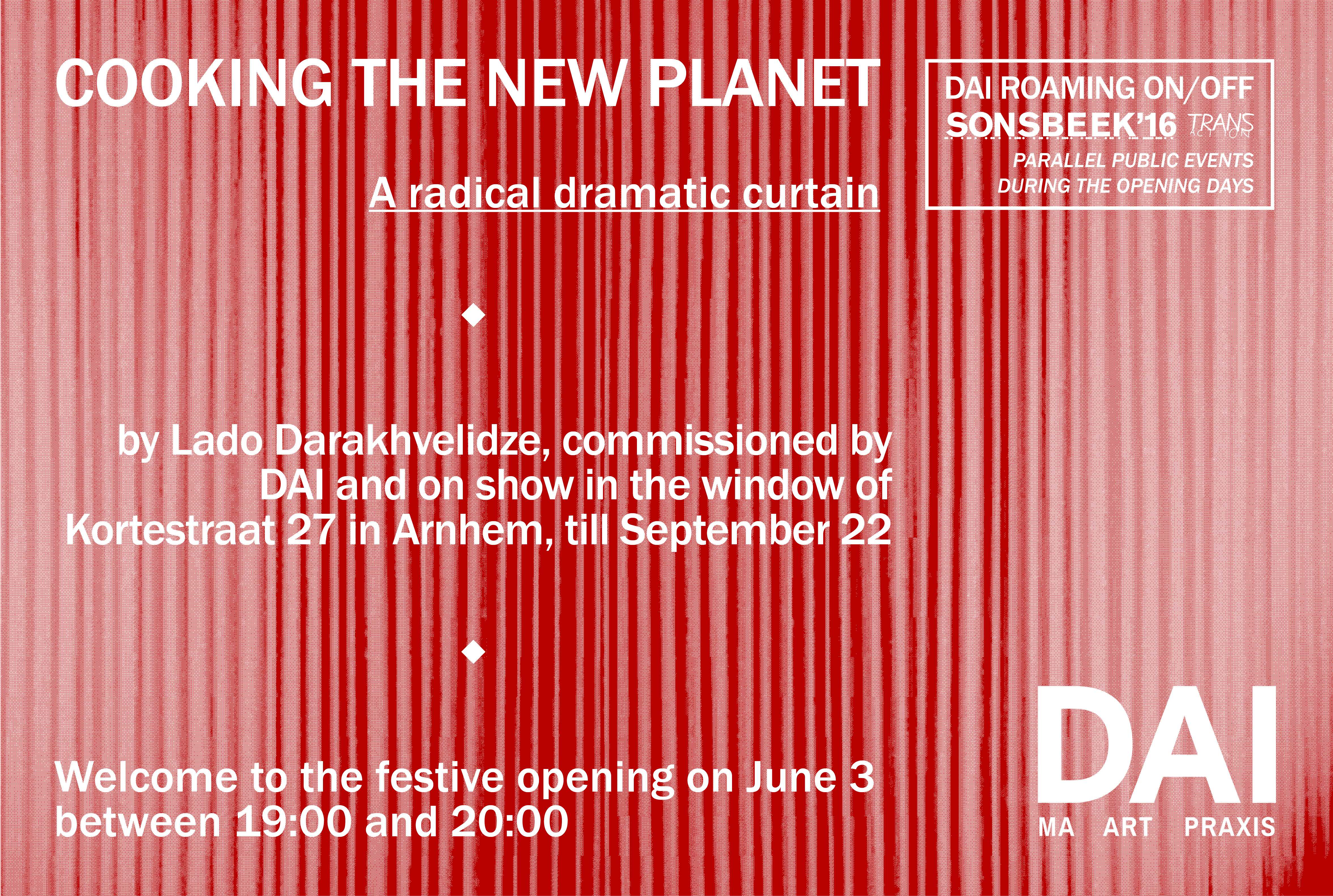 Cooking The New Planet - a radical dramatic curtain. Lado Darakhvelidze