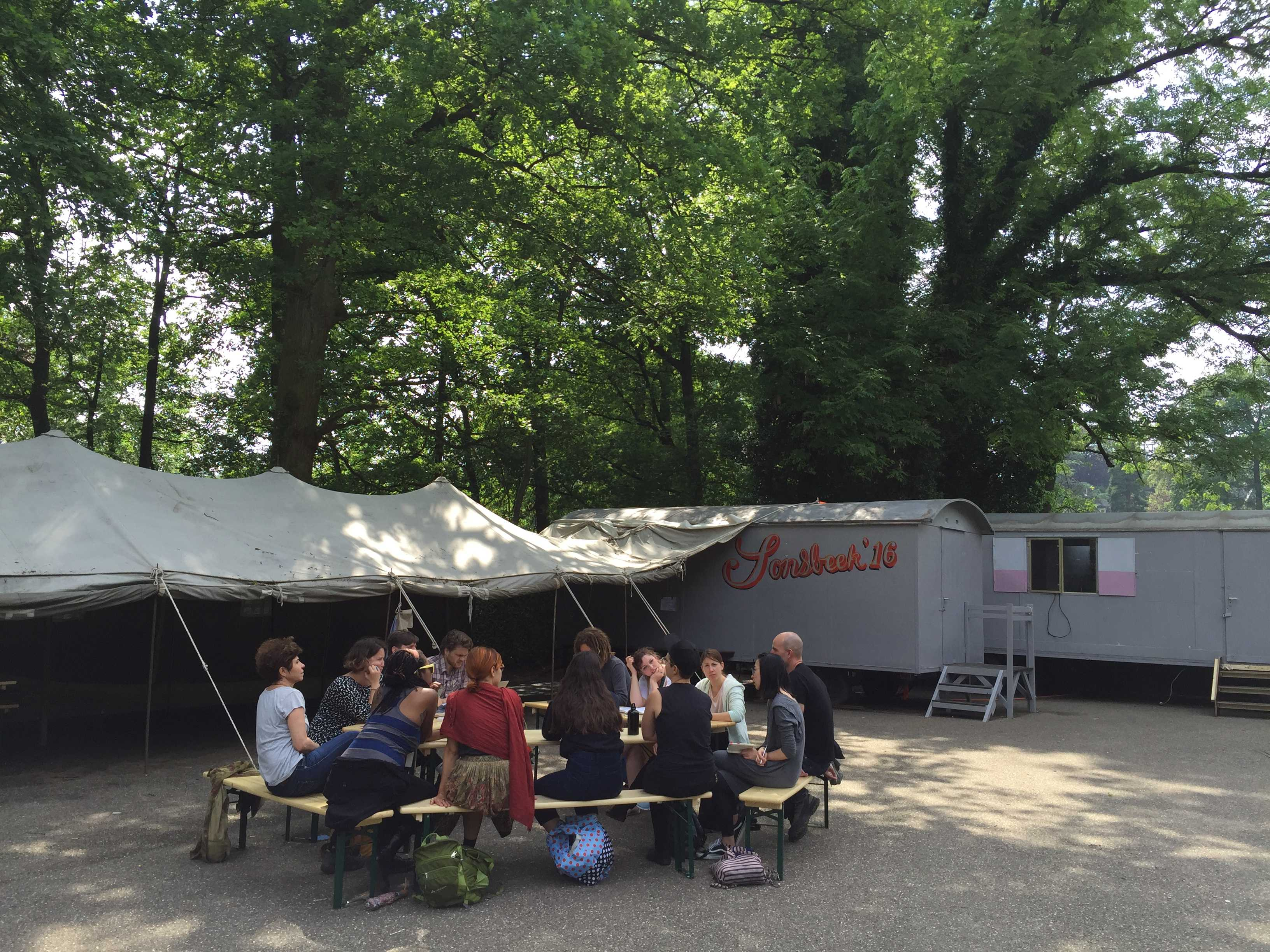 DAI-INLAND class at Park Sonsbeek, June 1, 2016. Photo: Sanne Oorthuizen