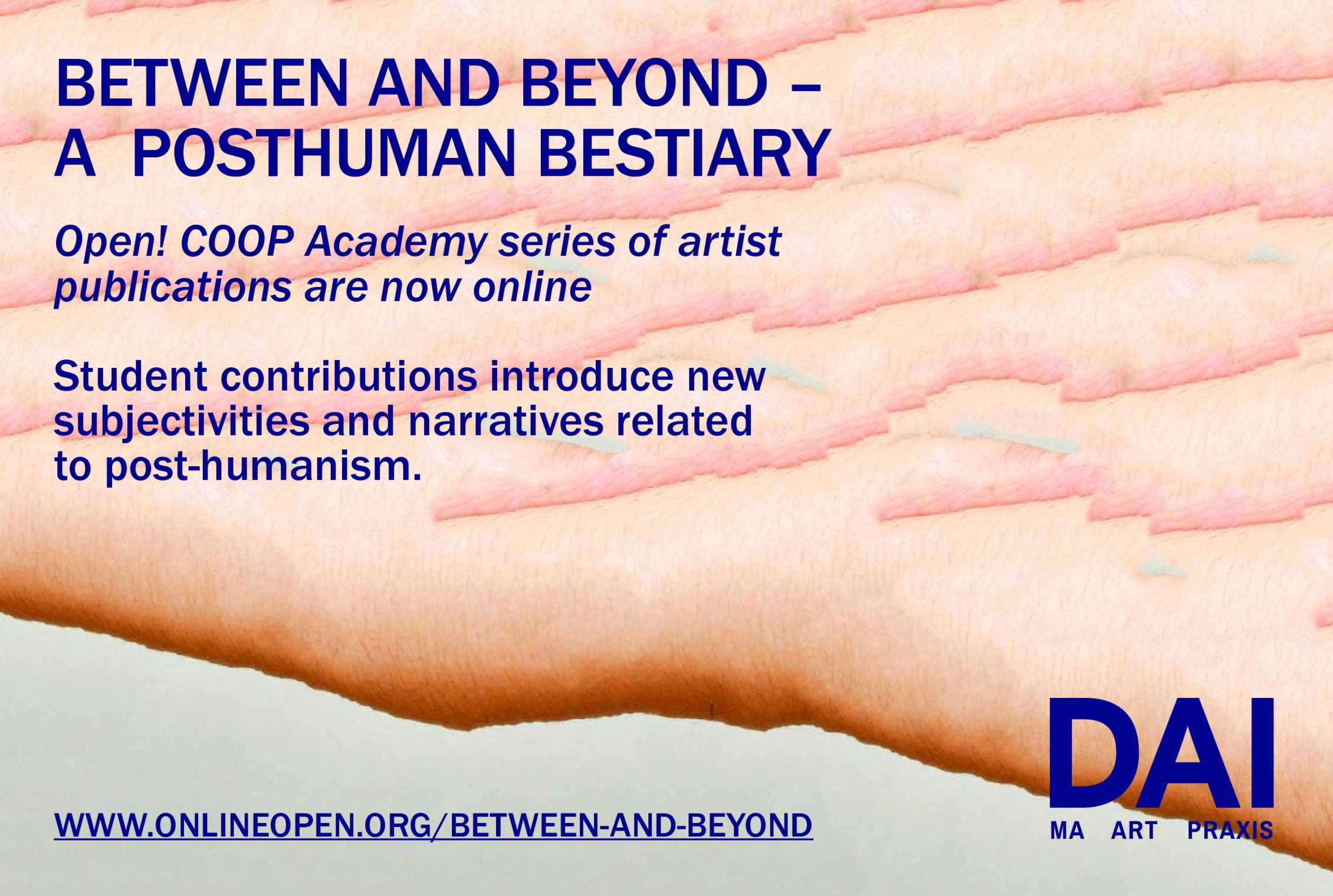 Between and Beyond ~ Open! COOP Academy present on line essays by