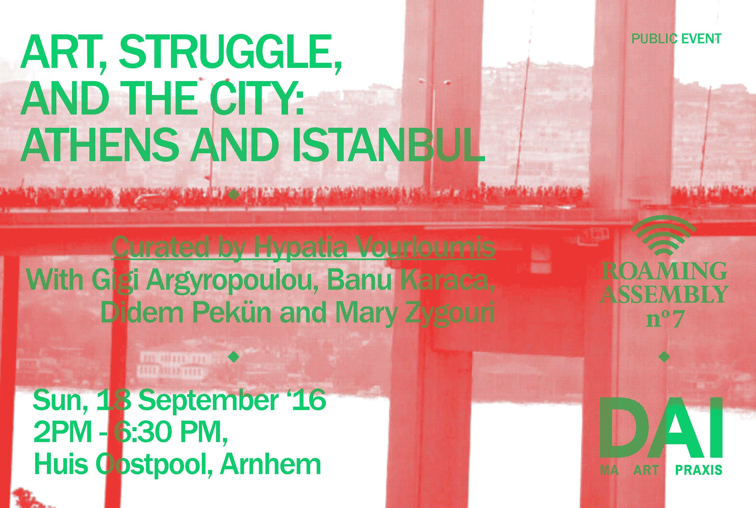 DAI, september 18 ~ Art, Struggle, and the City: Athens and Istanbul