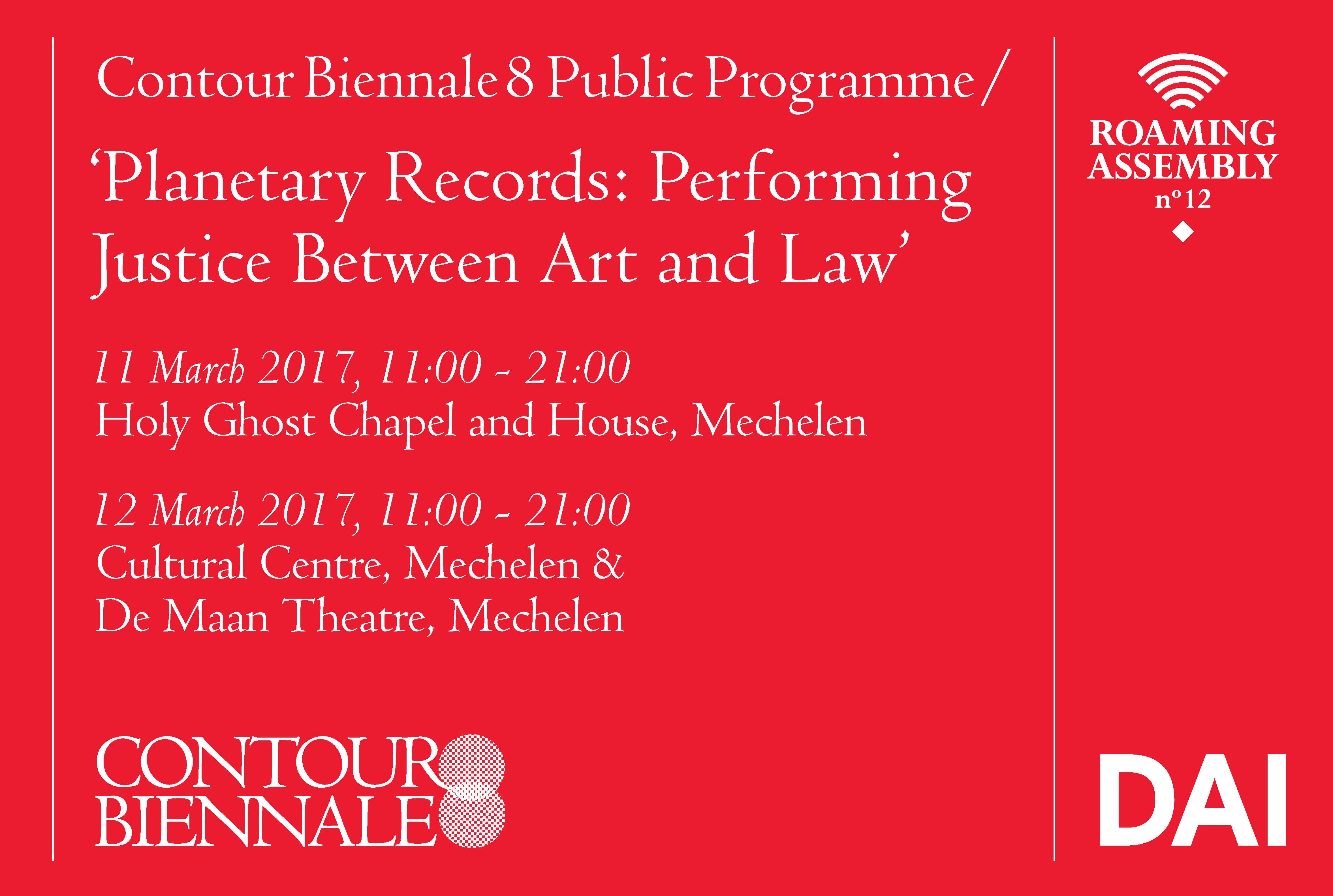 Planetary Records: Performing Justice Between Art and Law