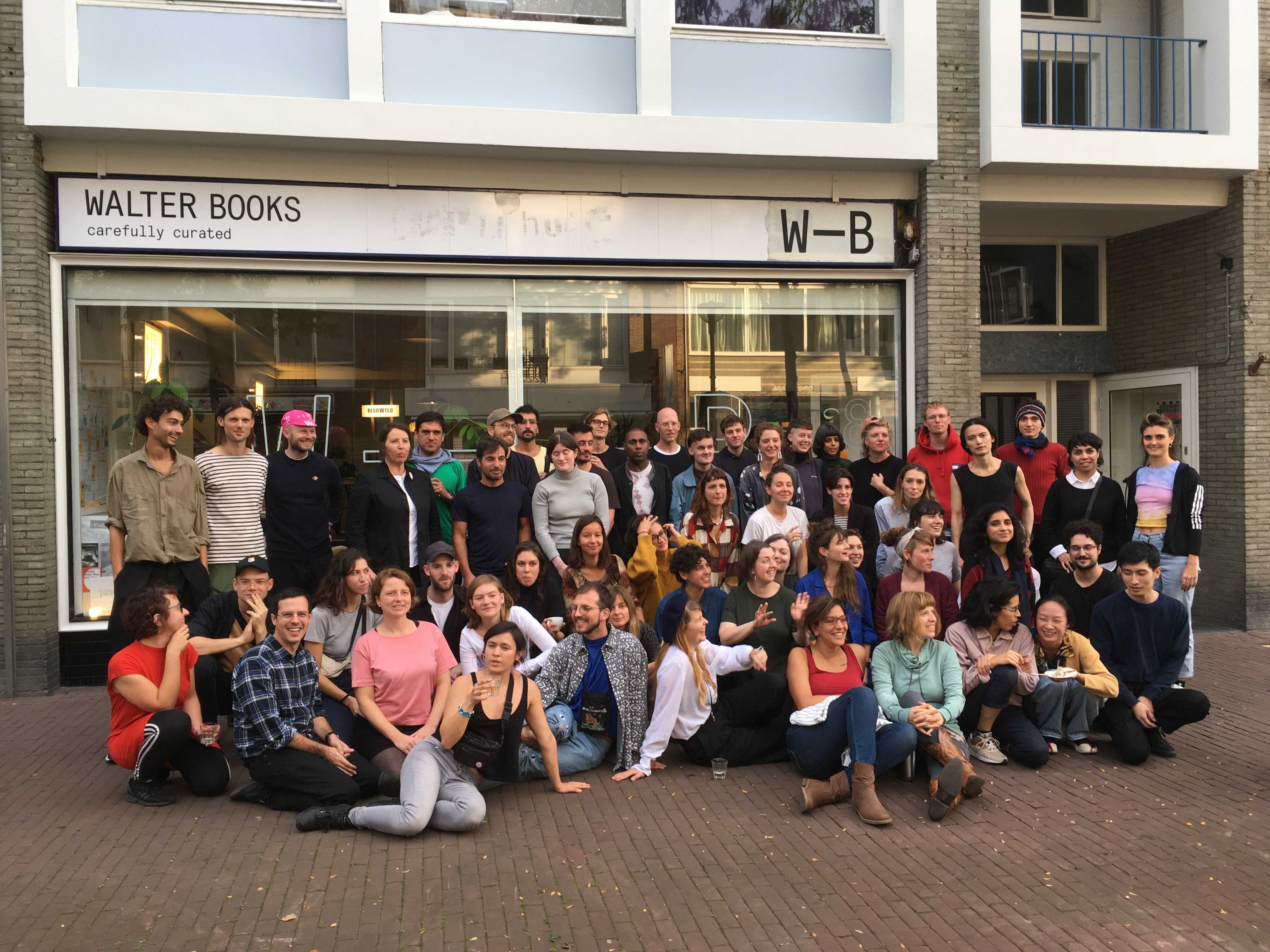 DAI year 2017-2019/DAI year 2018-2020 in front of WALTERbooks in Arnhem. October, 2018. Photo: Jacq van der Spek