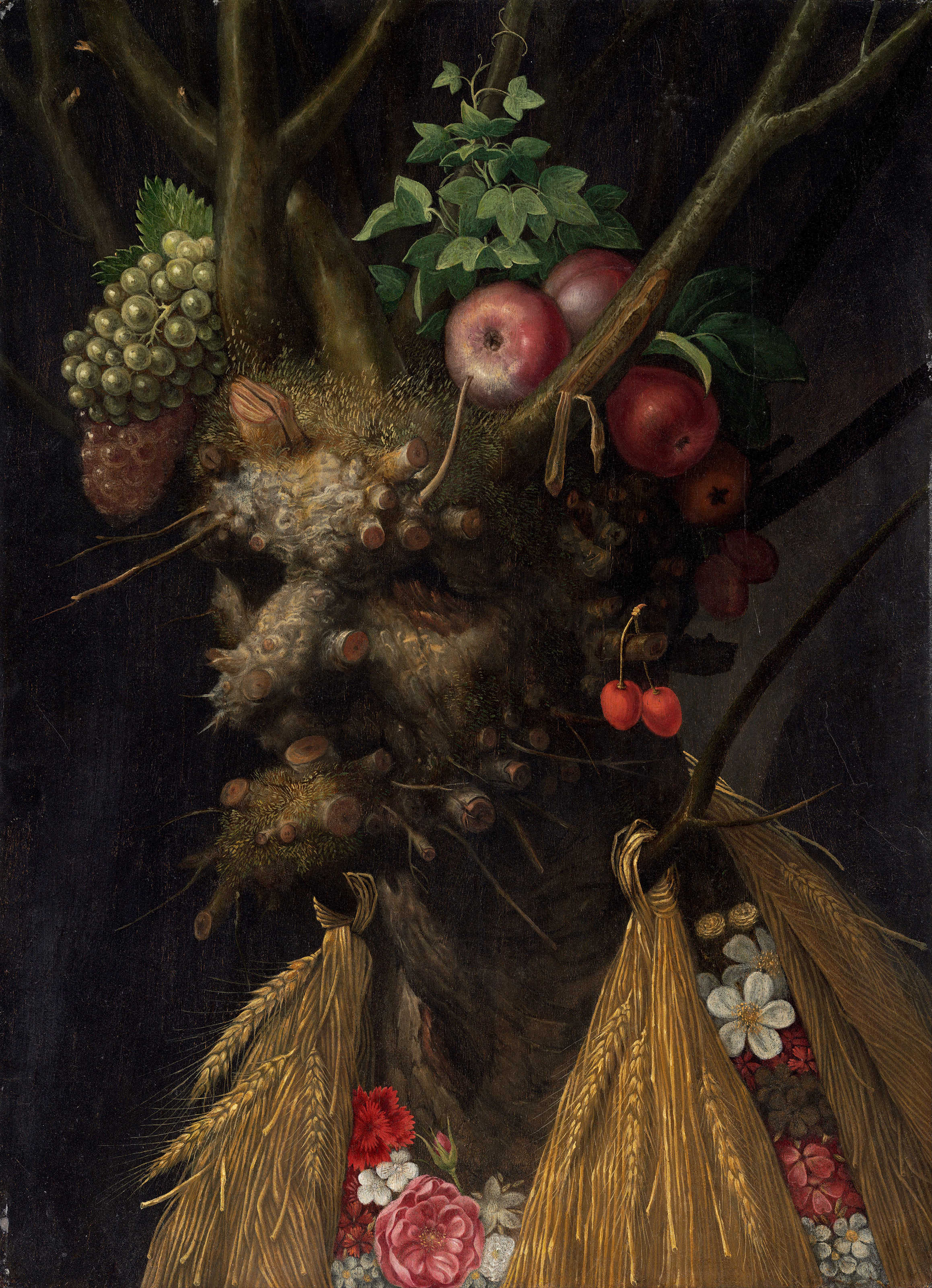 Giuseppe Arcimboldo, Four Seasons in One Head (1590)