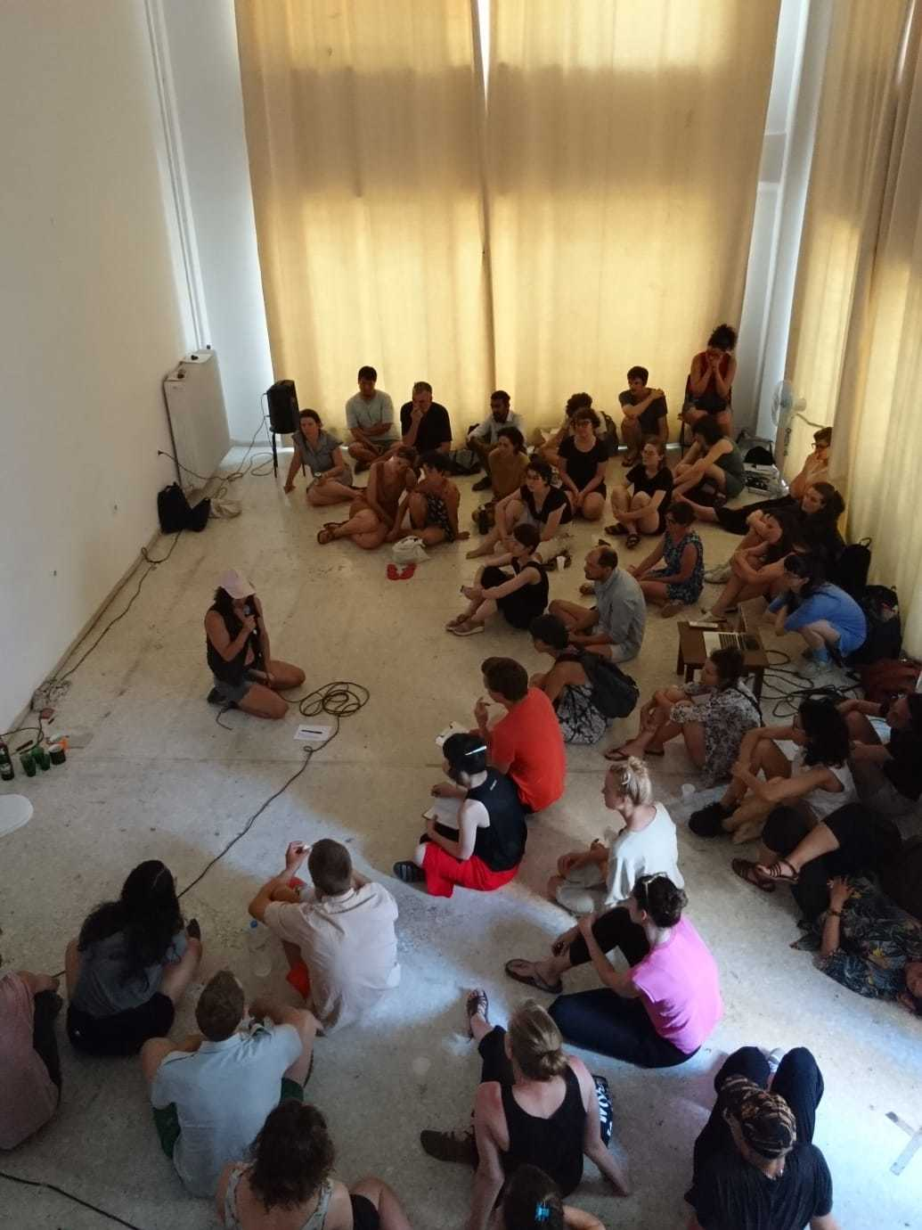DAI Final Kitchen presentations at Circuits & Currents in Athens - July 2018: Clara Saito's performance ( photo: Gabriëlle Schleijpen)