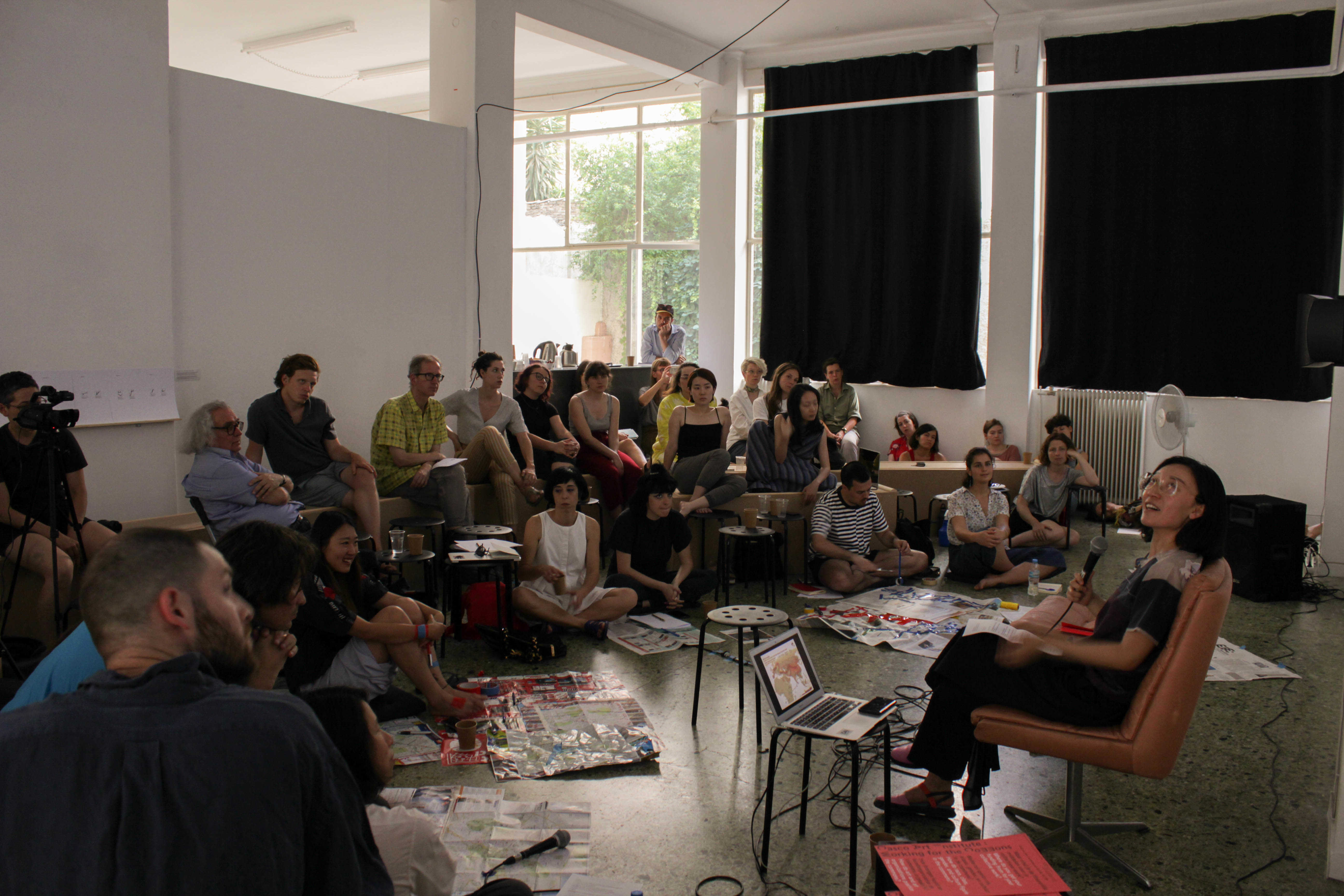 DAI's Roaming Assembly# 22: Eurasian Steps. Location: State of Concept, Athens. Curators You Mi and Binna Choi. Sunday June 3, 2018. Photo: Silvia Ulloa.