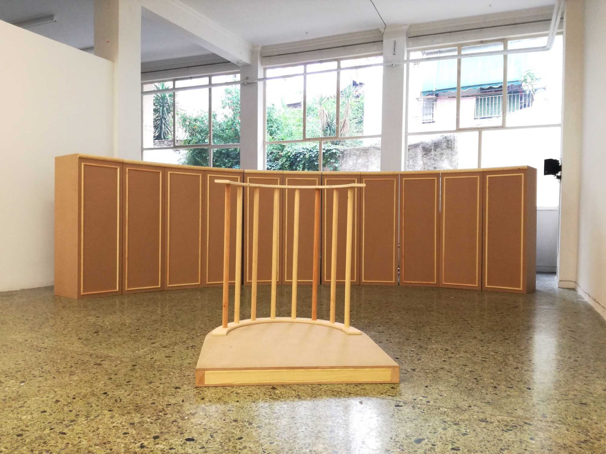 "Installation view from Yota Ioannidou's ""A case of perpetual no"", May 2018, State of Concept Athens. Copyright the artist and State of Concept Athens."