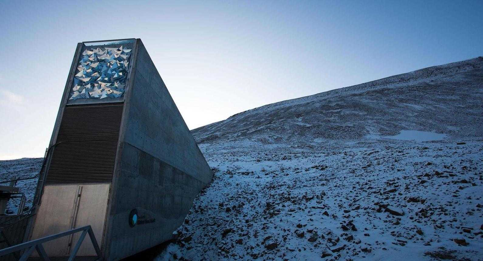 Entrance to the Global Seed Vault in Svalbard, Norway