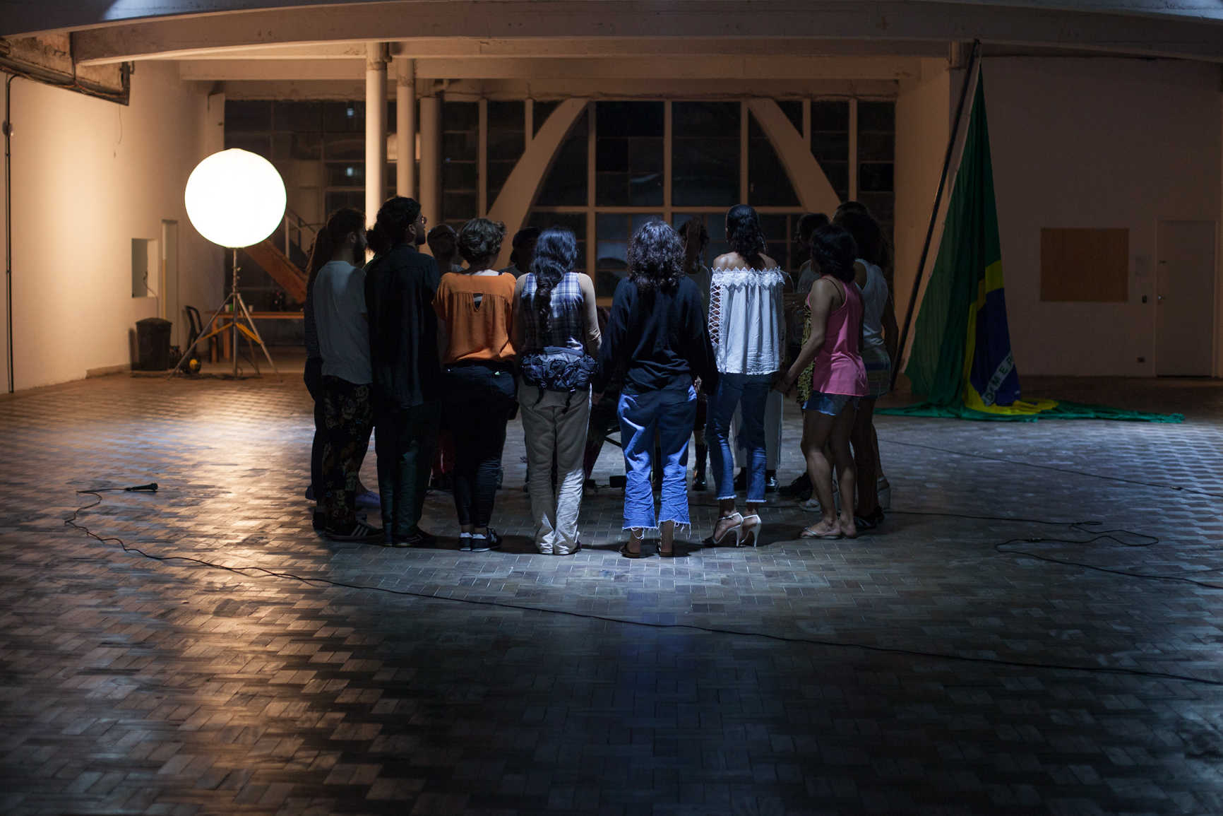 Raphael Daibert: TravaLíngua open process with Mavi Veloso and Grupo MEXA at Casa do Povo, São Paulo, November 2018 (photo: Mayra Azzi)