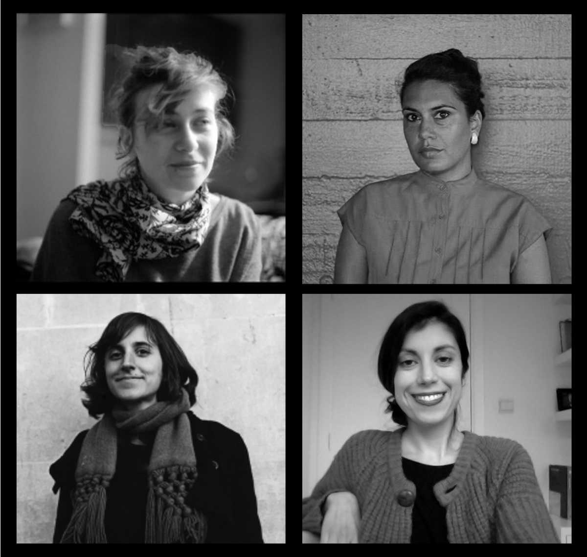 Image: Portraits of Giulia Damiani, Chandra Frank, Elize Mazadiego and Ros Murray (clockwise from top left).