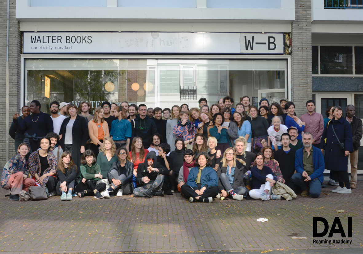 DAI year 2018-2019/DAI year 2019-2020 and tutors in front of WALTERbooks in Arnhem. October, 2019.
