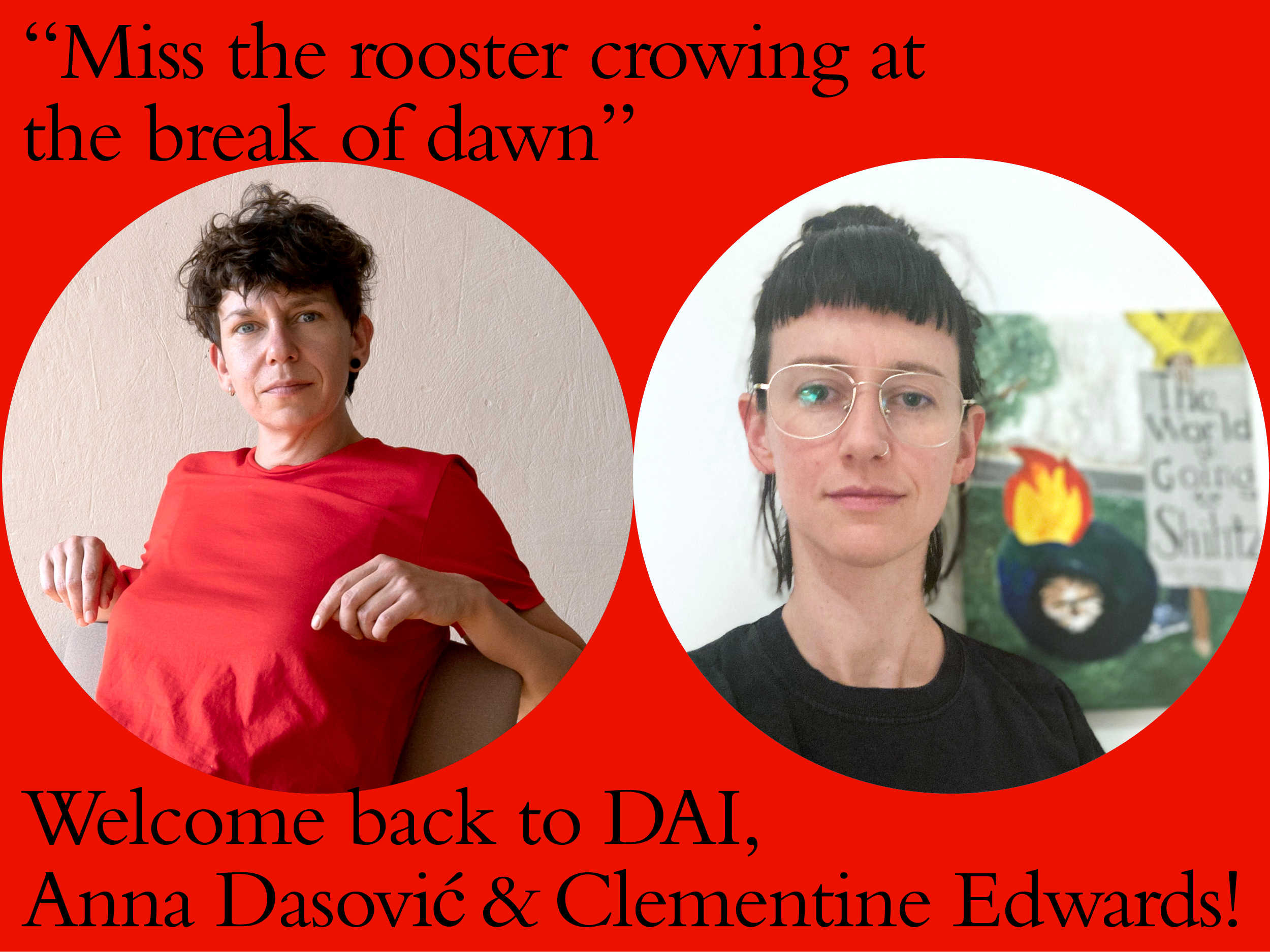 DAI welcomes back Anna Dasović & Clementine Edwards - member of our alumni embassy for Kitchen, 26th June.