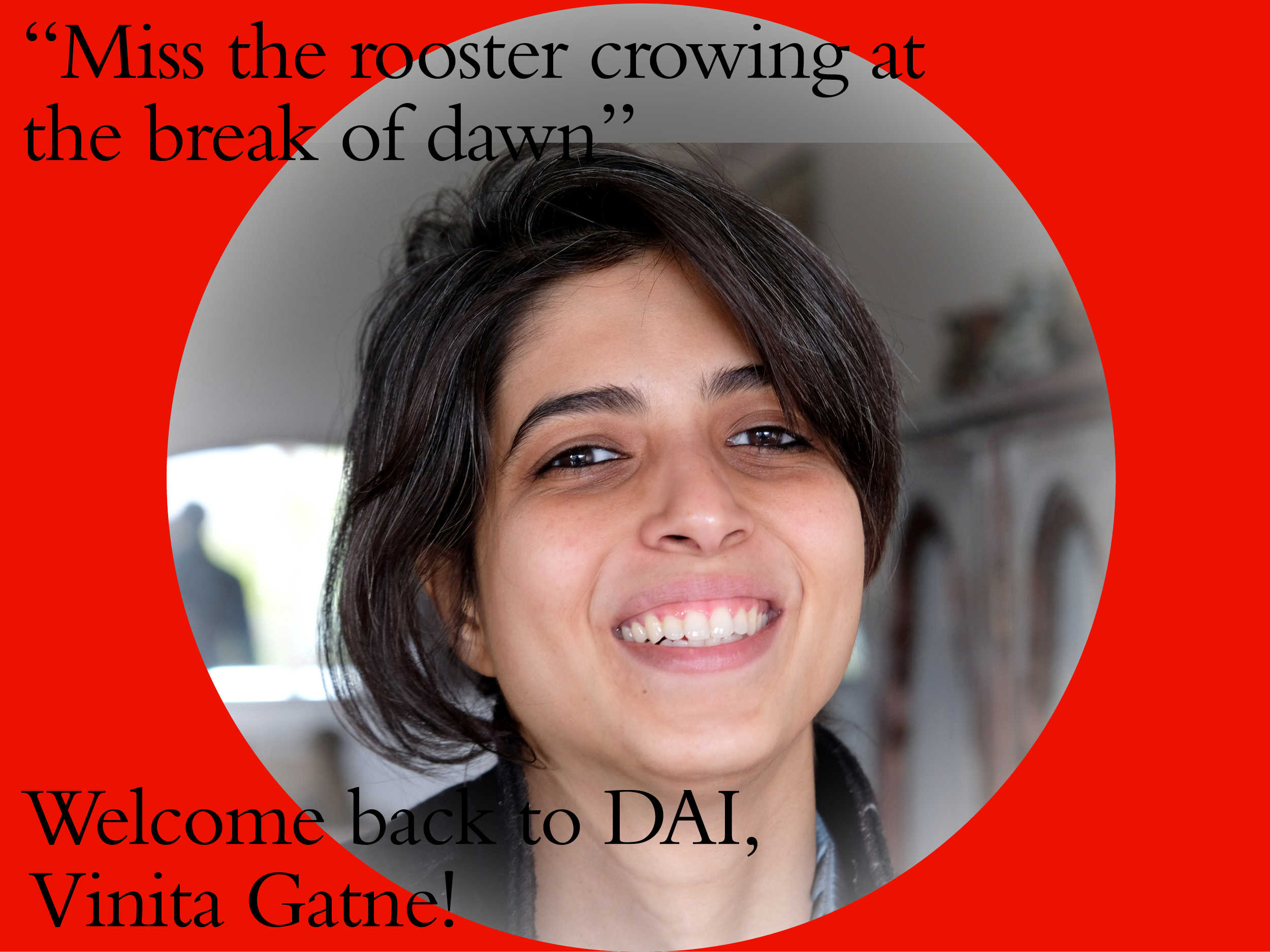DAI welcomes back Vinita Gatne - Kitchen, 27th June