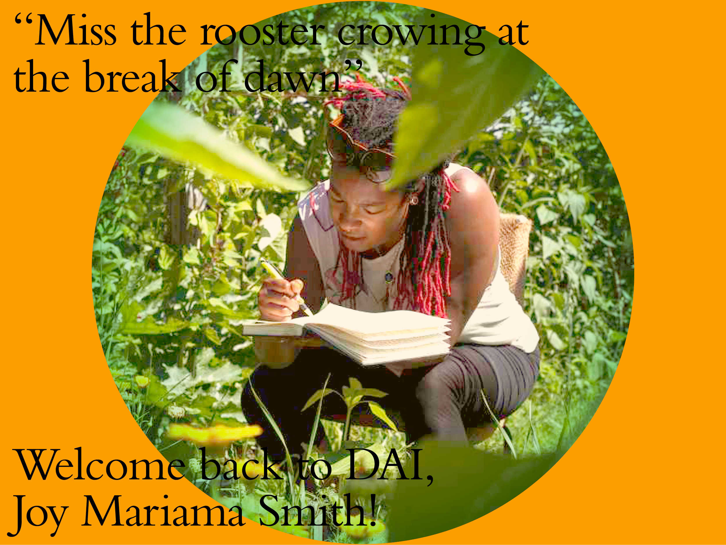 DAI welcomes back Joy Mariama Smith as a respondent for Kitchen, 30th June